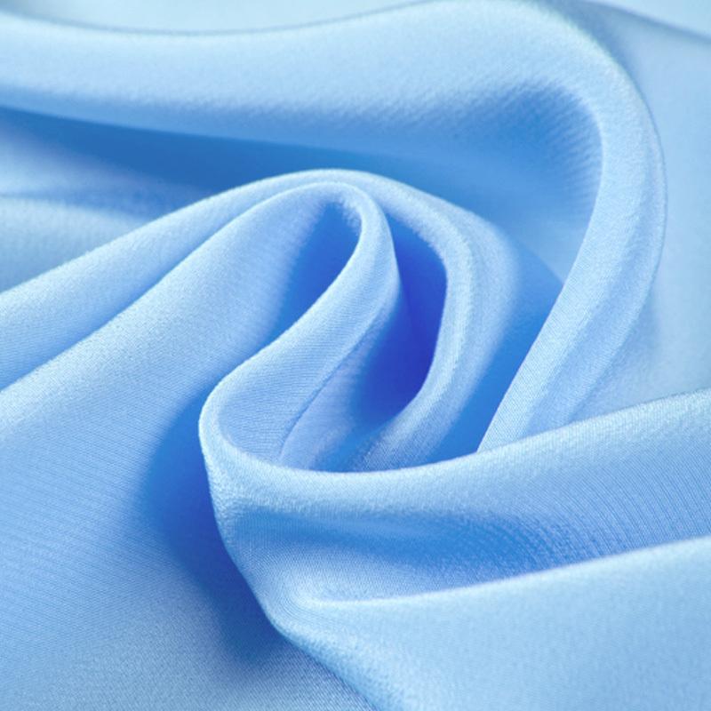 """100% crepe di seta pura de chine tessuto retro satinato 12 millimetri 114 centimetri 45"""" di larghezza pallido colore blu per il vestito, la camicia No.06"""