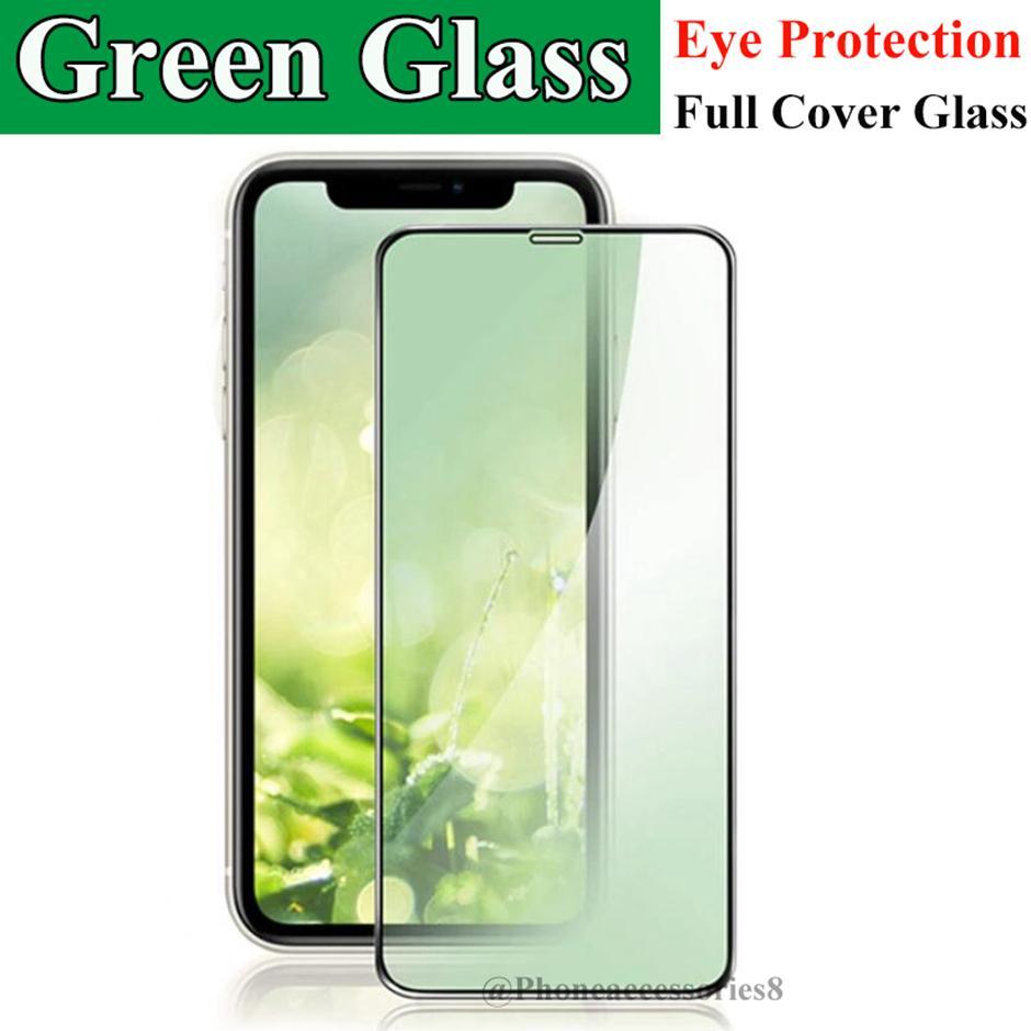 الضوء الأخضر EYE حماية الهاتف زجاج الشاشة حامي للحصول على اي فون 12 PRO MAX 11 XR X XS MAX 8 7 6 سامسونج A01 A11 A21 A31 A41 A51 A71