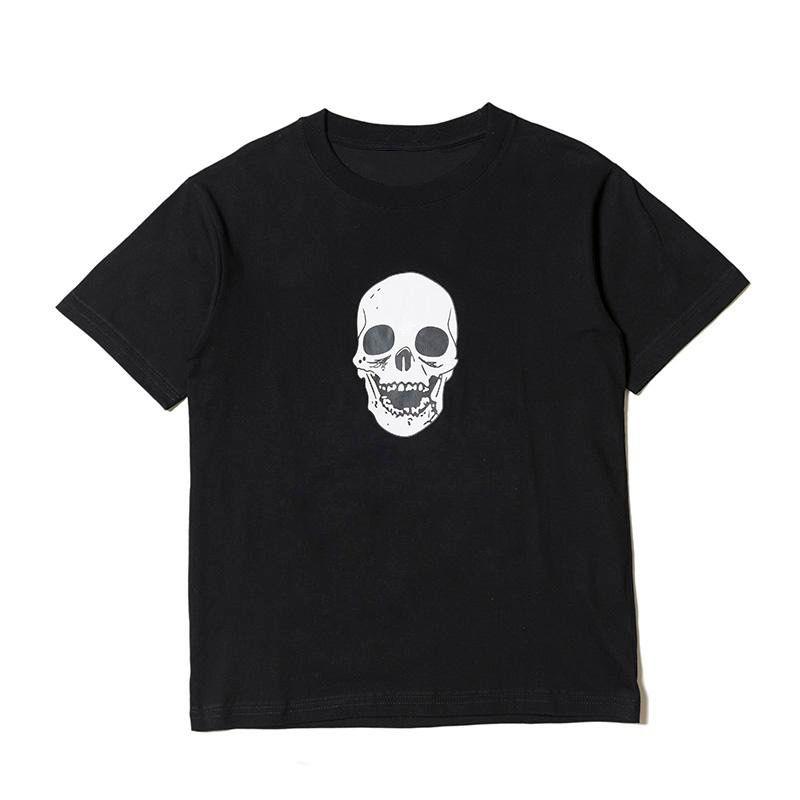 19s Skull Men T Shirt Alta Qualidade Hip Hop Mangas Curtas Mulheres Homens Estilista Camiseta
