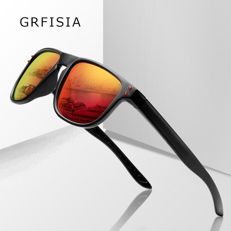 Atividade óculos de sol gafas sol promoção homens polarizados óculos de proteção uv espelho óculos de sol vermelho de moço tons masculino azul é barato g519 jcuuj
