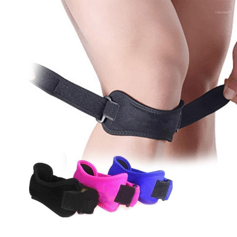 1 pcs ajustável tendão tendão joelho brace knee patella guarda respirável corrida de basquete alça de basquete suporte suporte de alívio da dor1