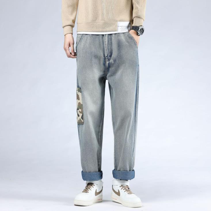 Plus Size Hiphop Jeans Mens Hip Hop Baggy Denim Pants Outono Inverno Homens roupas folgadas calças masculinas lazer Bottoms