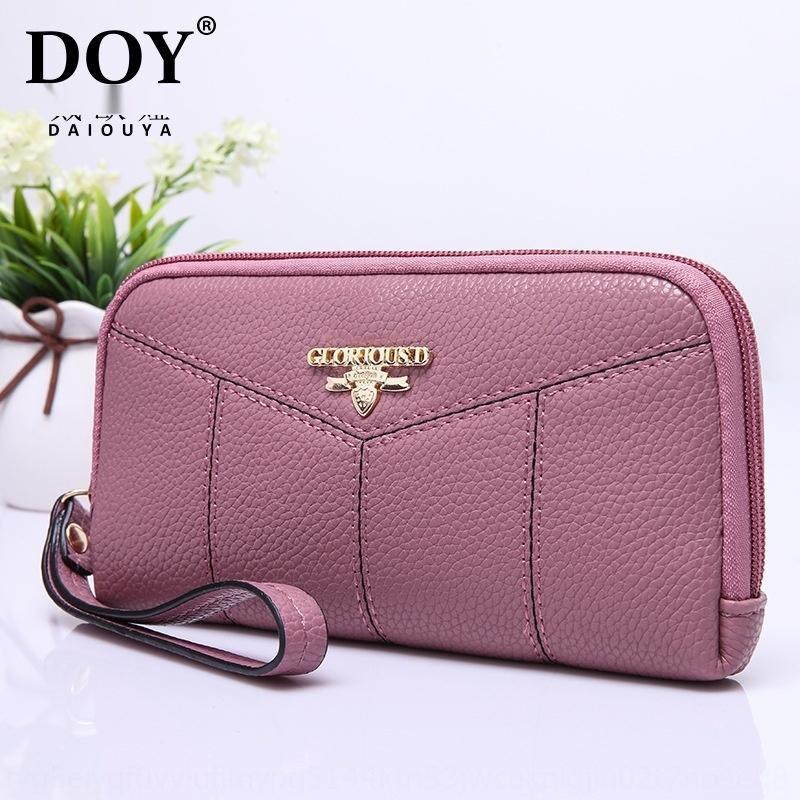 0mKmS Creative été version coréenne de la mode dame douce couleur unie à long sac à main des femmes de portefeuille de portefeuille