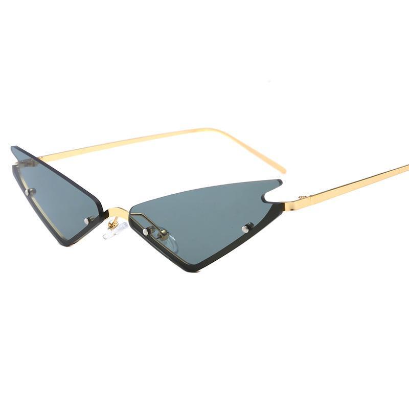 Lunettes de soleil des femmes personnalisées de chat coloré lunettes à la mode et lunettes lunettes lunettes de soleil femme de rue All-match femme MDTVD
