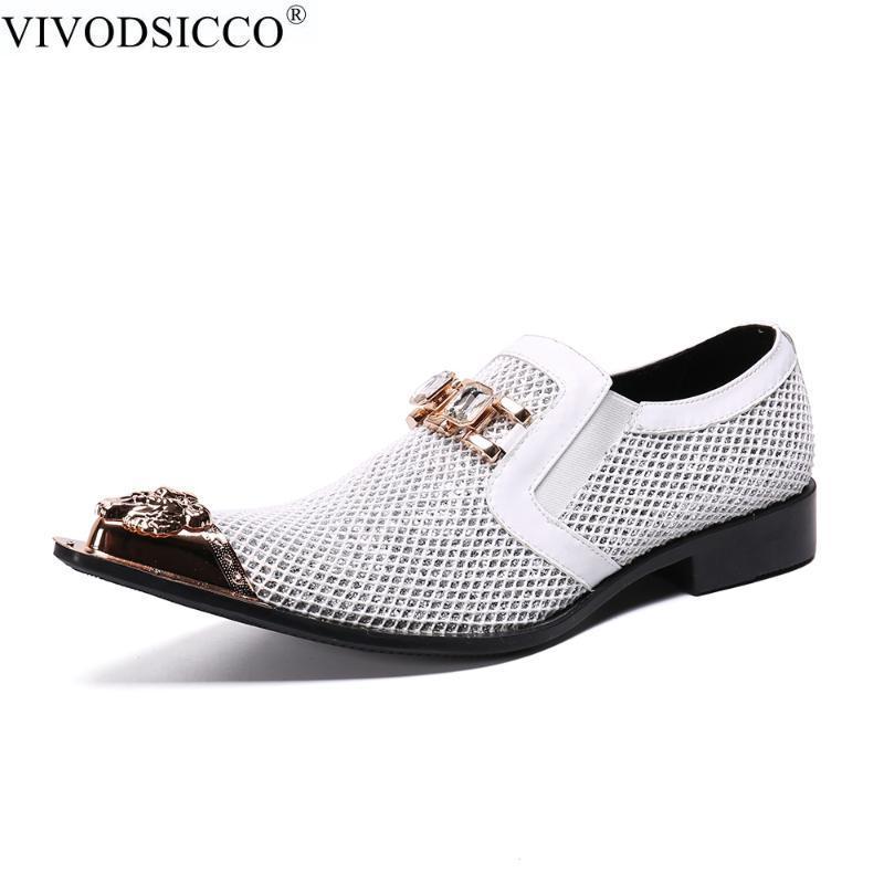 Chaussures Hommes Italie Mode Chaussures habillées en cuir bout pointu Bullock Oxfords hommes mariage bureau officiel