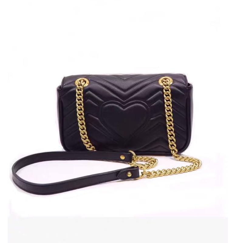 Oro MARMONT HA SACT PRINCIPAL XTCE BORSA Hombro Calidad Top Top Cadena Negra Carta Crossbody Genuine Bag Quilted Bag Cuero à Pequeño Excx