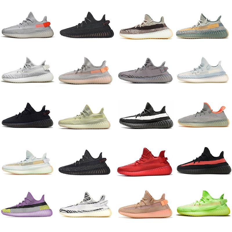 Yeezy 350 V2 Running shoes Static Reflective Kanye west Beluga 2.0 Мужчины Женщины кроссовки Zebra Black Белые кроссовки EUR 36-47 без коробок