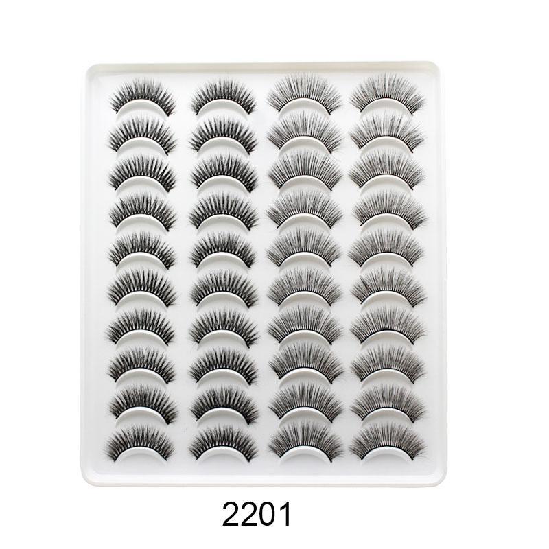 20 Pairs 15-20mm Natural 3D False Eyelashes Fake Lashes Makeup Kit Mink Lashes Extension Mink Eyelashes Maquiagem Eye Makeup