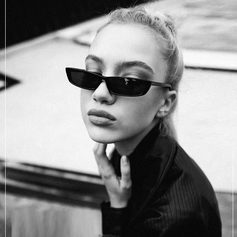 Sunglasses 2021 Small Square Men Women Cat Eye Celebrity Half Frame Sun Glasses Fashion Female Shades UV4001