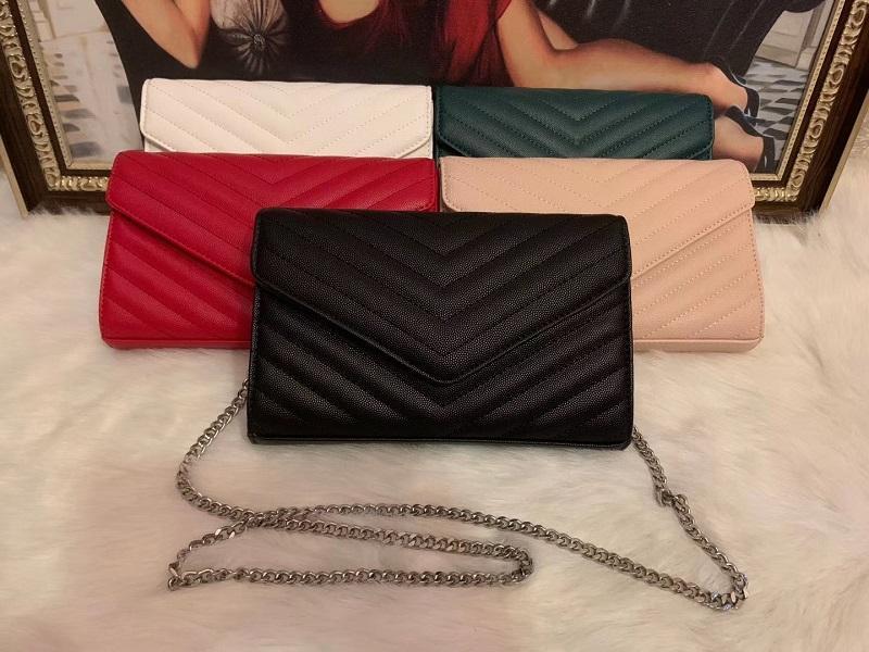 Taschen Loulou Leder Kette Womens HA Luxurys Designer Tasche Tasche gesteppte Schulter Crossbody Handtaschen Geldbörsen Mode Tote Schwarz Echt IOB VSDW