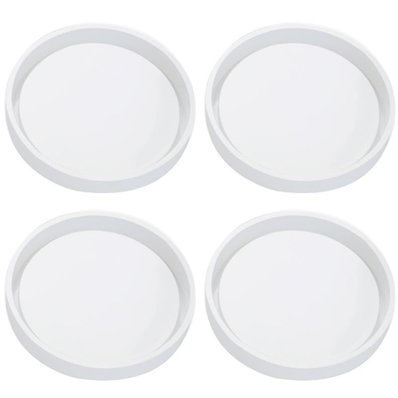 4 Paquete Big DIY Silicona redonda, Diámetro 3.94 pulgadas / 10cm, Moldes para fundición con resina, cemento