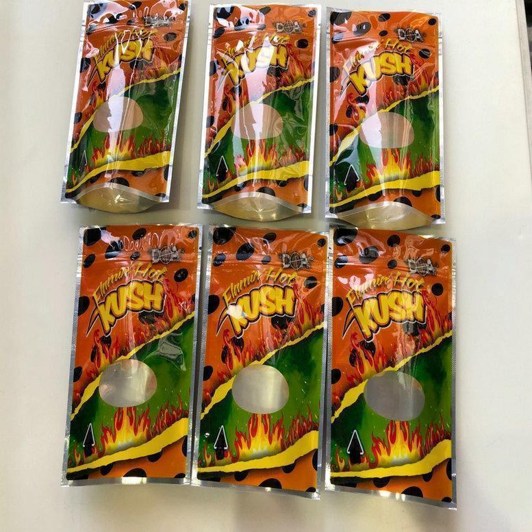 Sf Childproof Flamin Hot Resealable Mylar Kush vazio Sacos Califórnia Bolsa Mylar 3.5-7g wmtxLV powerstore2012