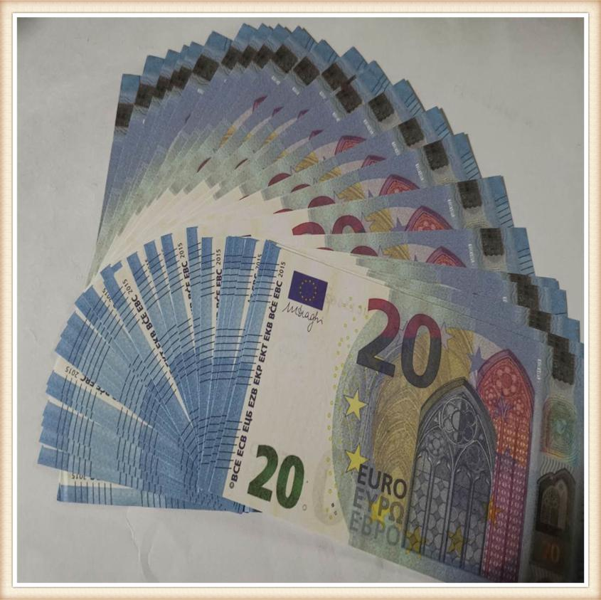 Best Prop Copy Fake Money Kids Learning Tool game token Toys for Films Video 10/20/50/100/200 Euro Without hologram