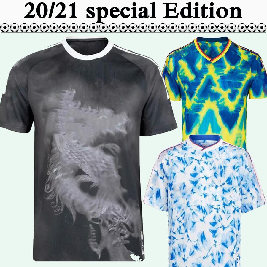 20 21 Pogba Special Edition Hommes Soccer Jerseys Rashford Benzema Hazard Sergio Ramos Bleu Jaune Rose Blanc Chemise Football Blanc À Manches courtes