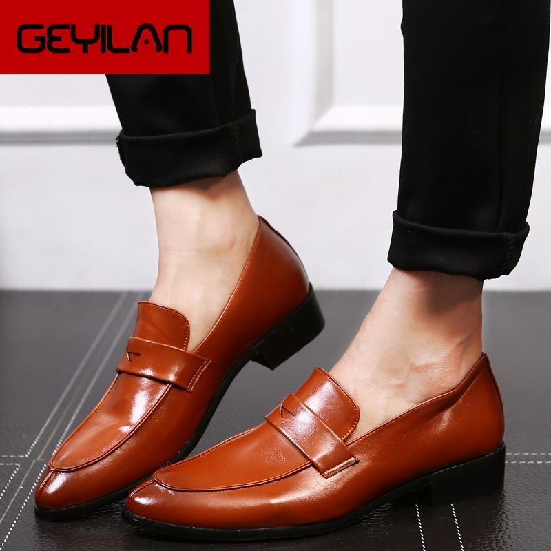 Ismarlama Moda Erkek Deri Ayakkabı El yapımı Erkekler Elbise Brogue Ayakkabı Klasik Loafers Ayakkabı İş Parti Ofisi Düğün