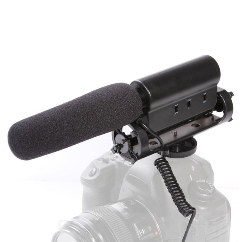 Портативные Универсальный микрофон ведет видеоблог Прочных конденсаторного Фото Черных Интервью Видеозаписи для Nikon DSLR камера
