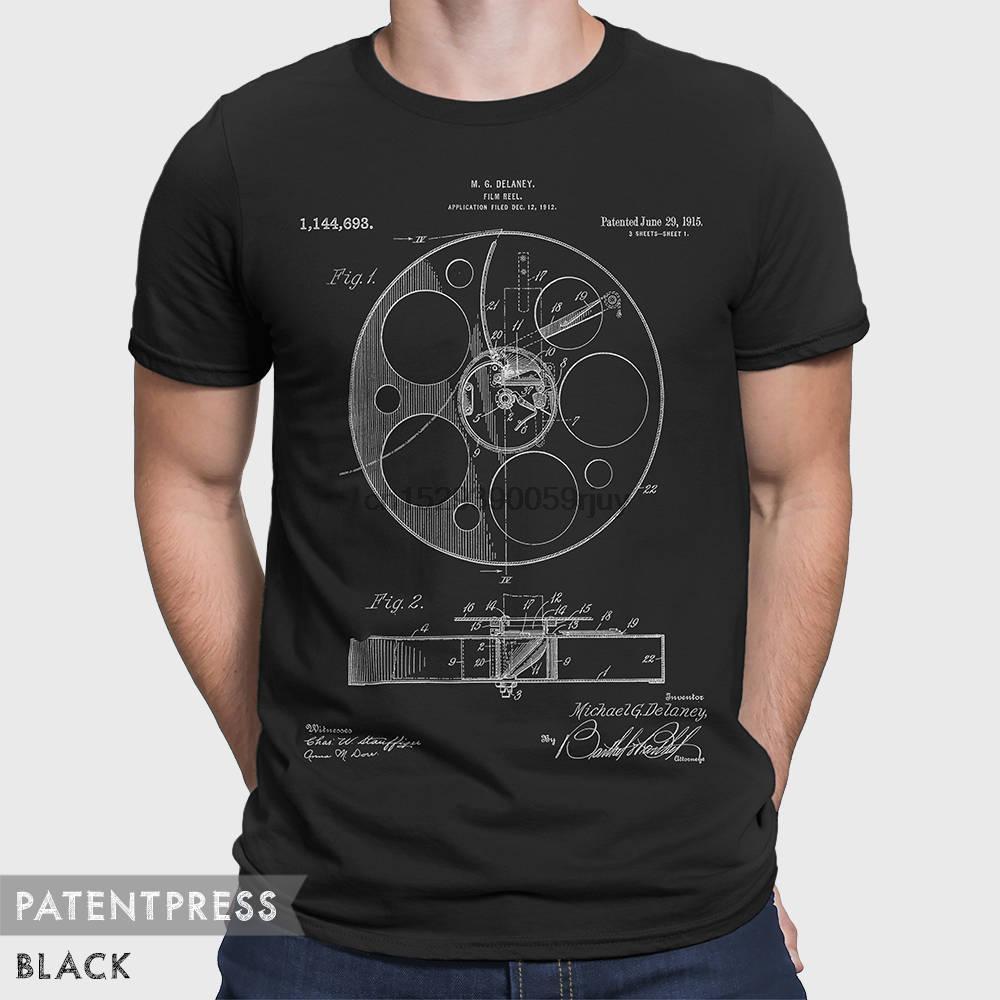 Film brevetto maglietta di sport Movie T shirt Film Reel Film shirt regalo per film amante regalo per Fan Film Cinema Lover Cinema Fan P089