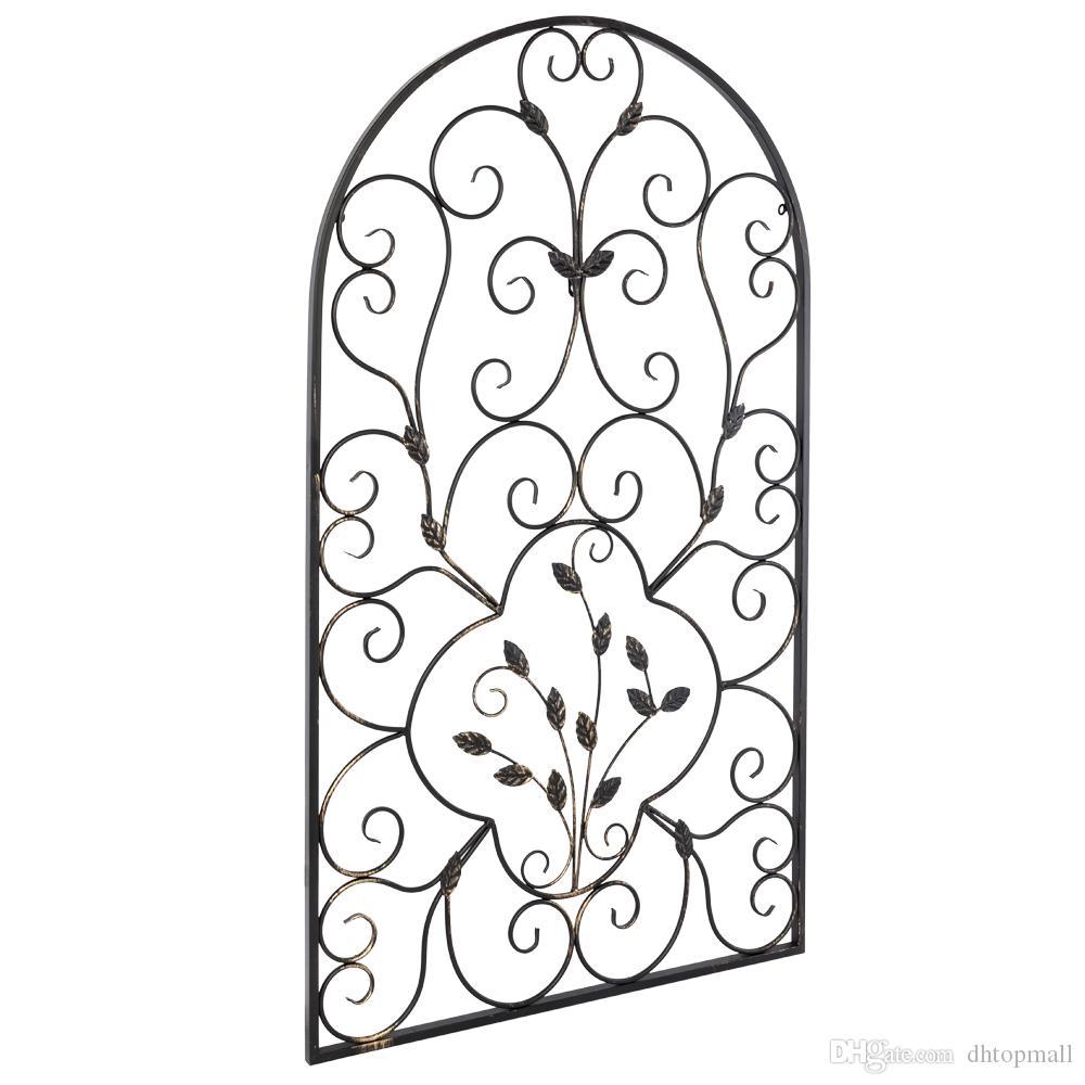 41 polegadas Decoração de parede de ferro forjado ferro grade de metal painel tuscano arte decoração de casa nos estoque