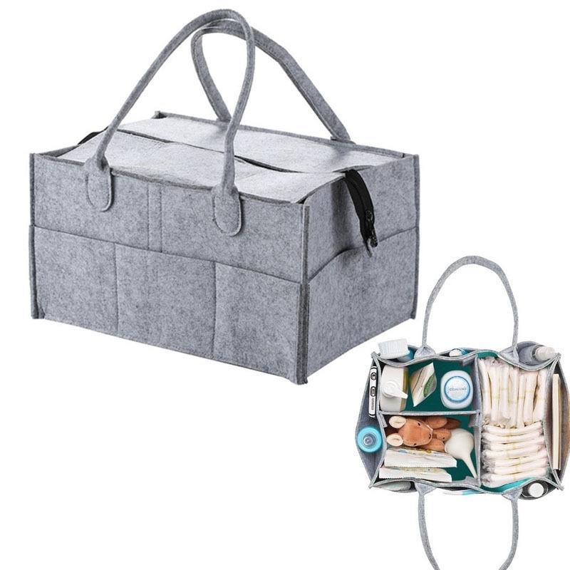 Avec sac de rangement couvercle, pliable bébé Cadeur Caddy Organiseur Cadeau Kid Jouets Jouets Portable Sac / Boîte pour Voyages Voyages Organisateur Y200714
