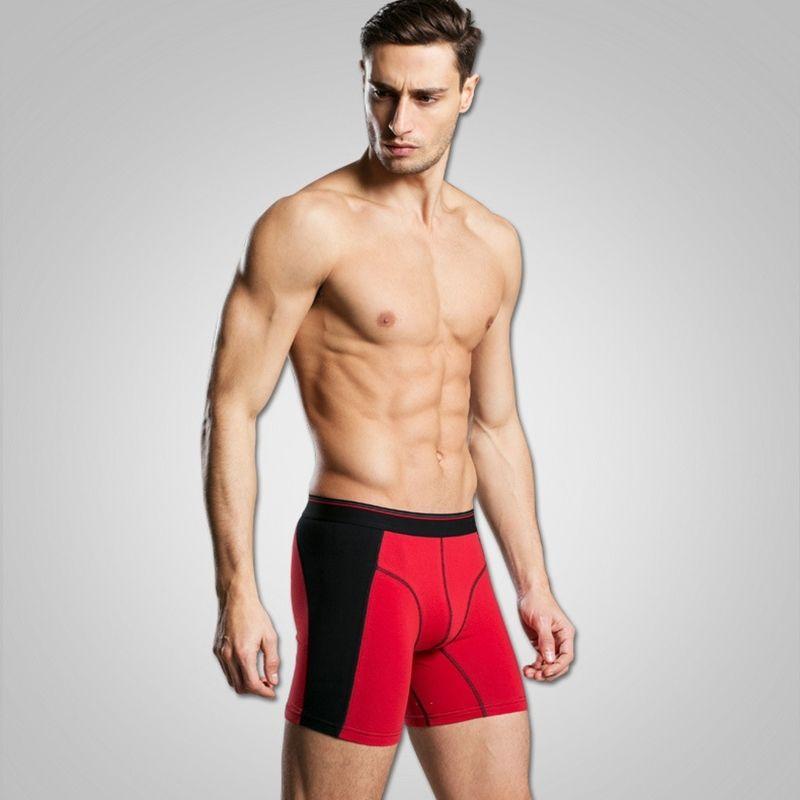 4 pçs / lote Algodão Longa perna homens boxer cueca cuecas calzoncillos calças homens shorts solto calecon despeje homme mens boxers xxxl y200414