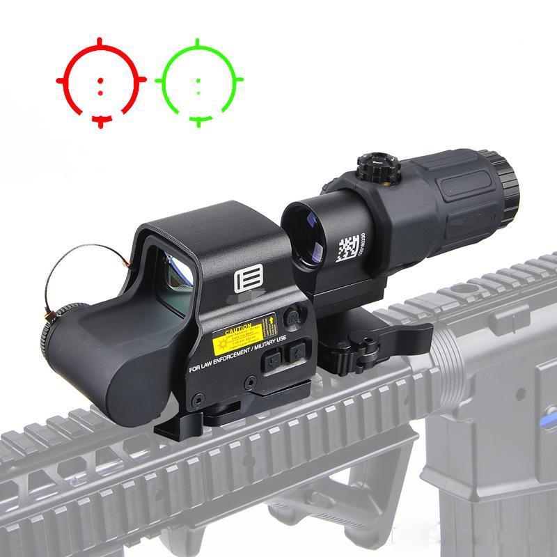 전술 558 홀로그램 시력 33 G33 돋보기 콤보 20mm 레일 마운트 용 폼 콤보 전술 적색 도트 광장