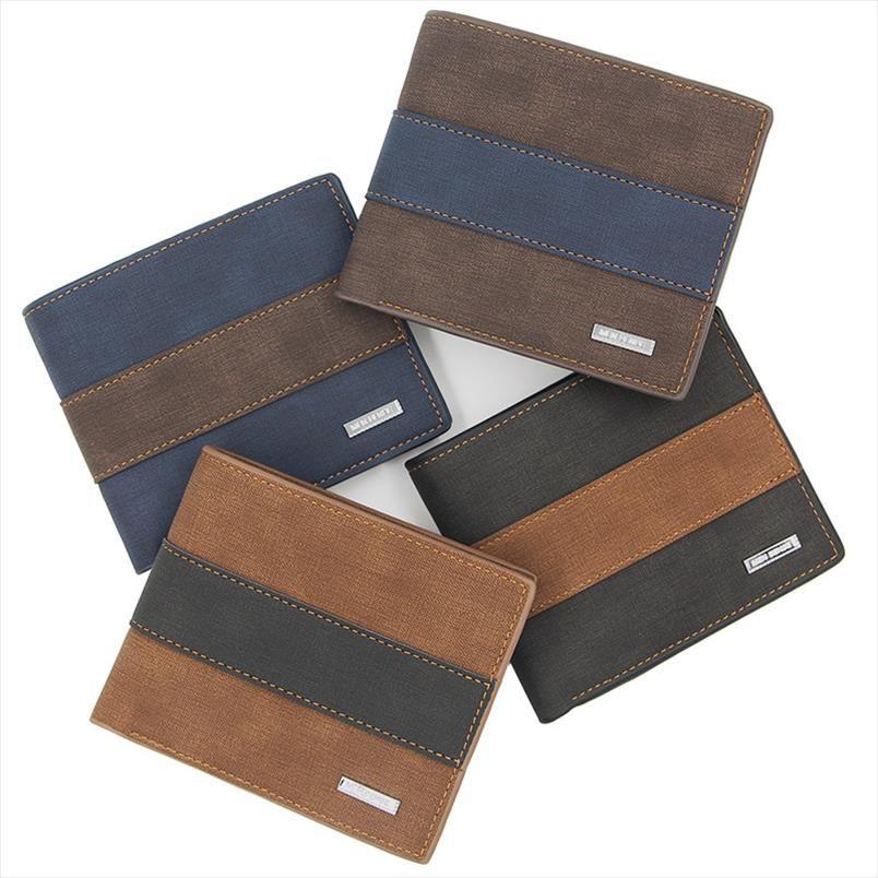 Titular casual envío crédito corto plegable monedero monedero cuero de alta calidad carteras gota tarjetas para hombre rlloa