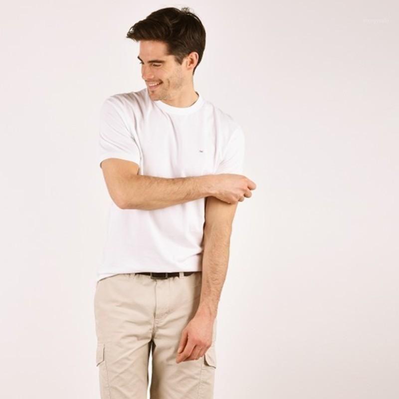 Eden Park Yaz Yeni Moda Marka Giyim Tshirt Erkekler Katı Renk Slim Fit Kısa Kollu T Gömlek Erkekler O-Boyun Rahat T-Shirts1