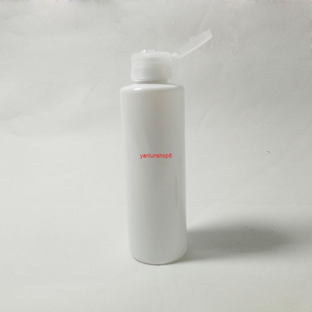 50pcs 150ml Flip Capuchon de capuchon, conteneur cosmétique en plastique blanc, échantillon de lotion vide Sous-bouteille de la lotion, emballage de la bouteille de shampooing