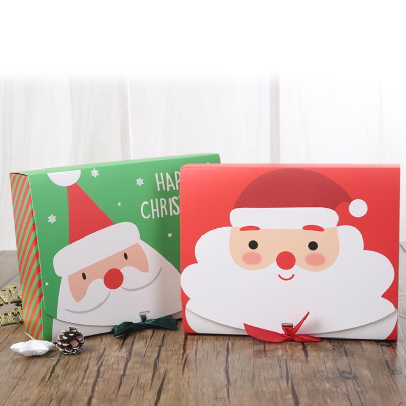 Сочельник Подарочные коробки Xmas конфеты большой ящик Санта-Клауса Бумажные подарочные коробки дизайн корпуса Printed коробка упаковки активность украшения OWB2112