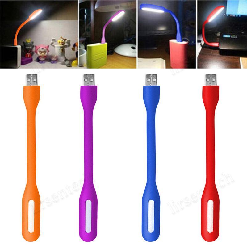 Mini LED USB Lectura Luz Lámpara de computadora Flexible Ultra Bright para PC portátil Power Bank Partner Computer Tablet Portátil
