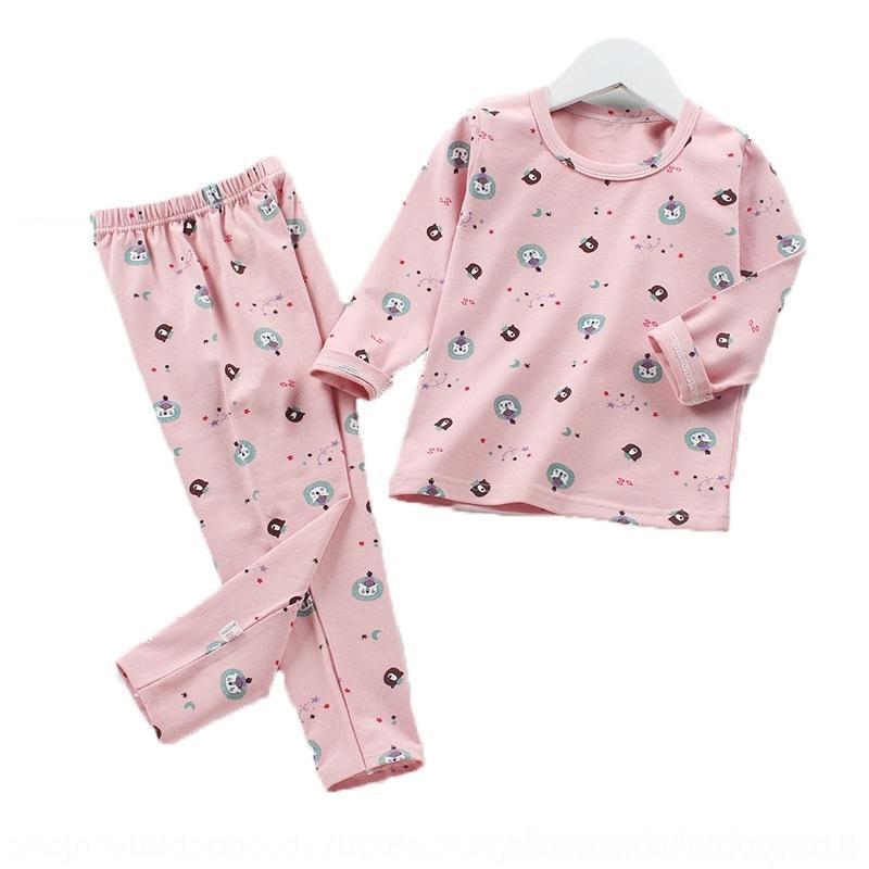 NG6K Girls Flannel Главная Брюки Одежда Удобные Теплые утолщенные Baby Pajamas Одежда Устанавливает рубашку с Детей Досуг Носить 6 М-3T