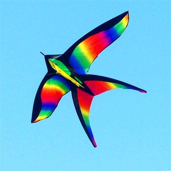 Ücretsiz Kargo Gökkuşağı Çocuklar Için Kuş Naylon Oyuncaklar Kites Çocuk Uçucu Hattı Weifang Uçurtma Fabrika Ikite 1018
