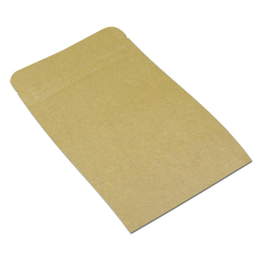 25 adet 2025 cm Beyaz Kahverengi Zip Kilidi Kraft Kağıt Mylar Folyo Ambalaj Çantası Isı Mühür Depolama Kılıfı Bakkal Gıda El Sanatları Ambalaj H SQCXNR