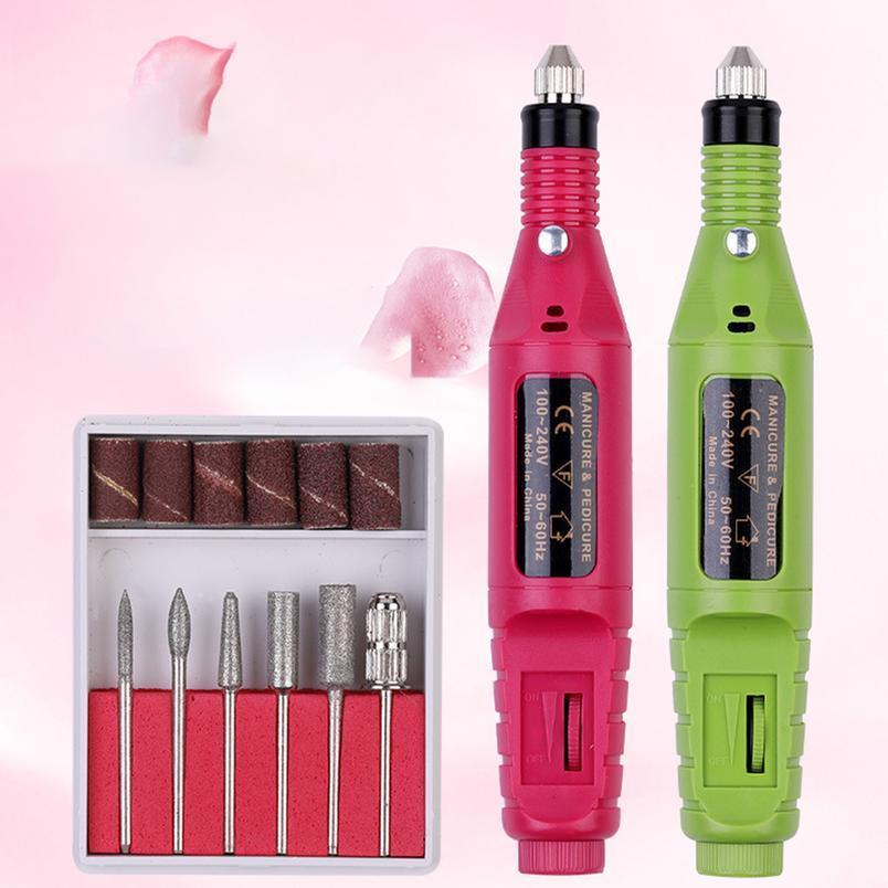 1 Set Mini Elektrische Nagelbohrmaschine Kit Maniküre Machine Nail art Pen Pediküre Nagel File Kunstwerkzeuge Mühle Schnitt Qylwpx