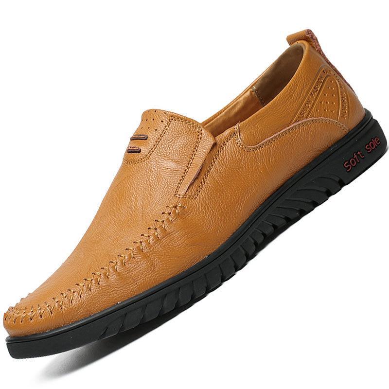 Мода осень Женщины Женская мода натуральная кожа Doug обувь скольжения на Круглый Toe Плоский Повседневный Loafer низкий Sneaker удобной мягкой chaussure