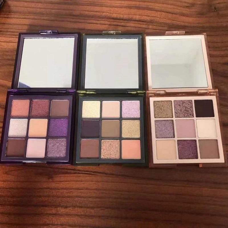 Nouveau maquillage des yeux mini-Haze 9 couleurs d'ombres à paupières Pressée Palette Violet Sable Kaki Shimmer Matte Eye Shadow 3 Styles