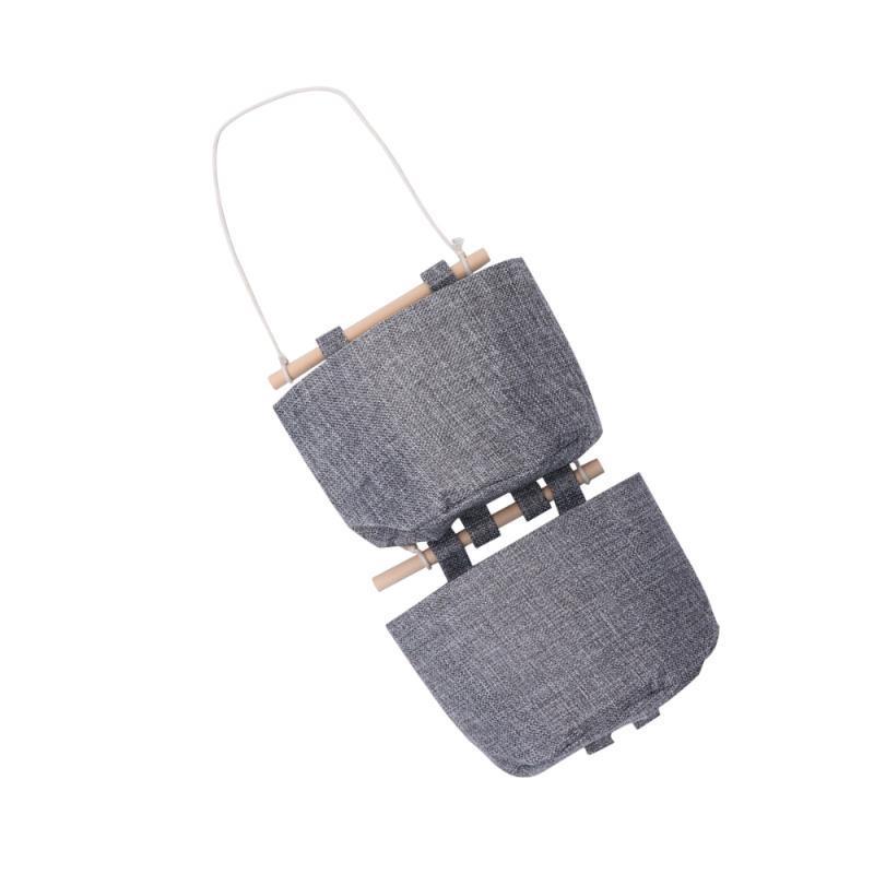 1 conjunto de sacos integrados da parede cestas de suspensão criativa cestas simples bolsa de armazenamento de parede sundries titular café