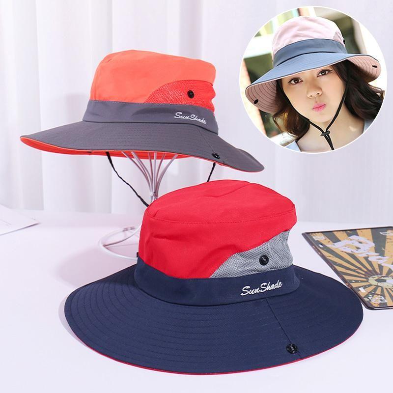 Summer Sun chapeau pliable large pêcheur de pêche en plein air Pêche de pêche de la plage Sunscreen UV Protection Cap pour homme femme unisexe