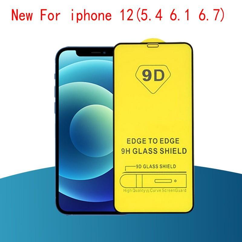 9D 전체 커버 접착제 강화 유리 전화 화면 보호대 아이폰 (12) Pacakge 빠른 배송 MAX 8 7 6 11 XR X XS MAX PRO