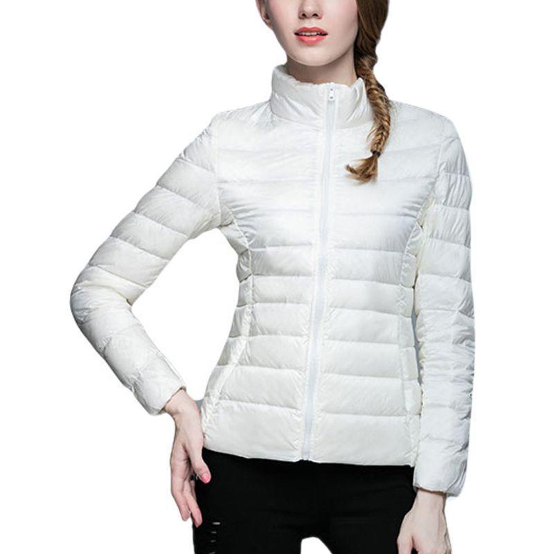 Kadın Aşağı Parkas UNIQLO Tarzı Ördek Hafif Ceket Kış Sıcak Giyim Ceket Kirpi Yüksek Kalite ve Marka Tutun