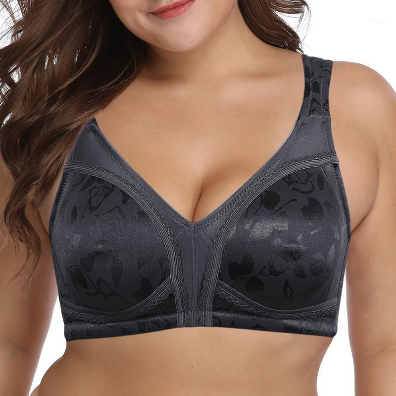 Ladies Bra European Size 75 80 85 90 95 100 105 110 B C D E F G Big Bras For Women Wire Free Thin Cups Print Unlined Sexy Bra1