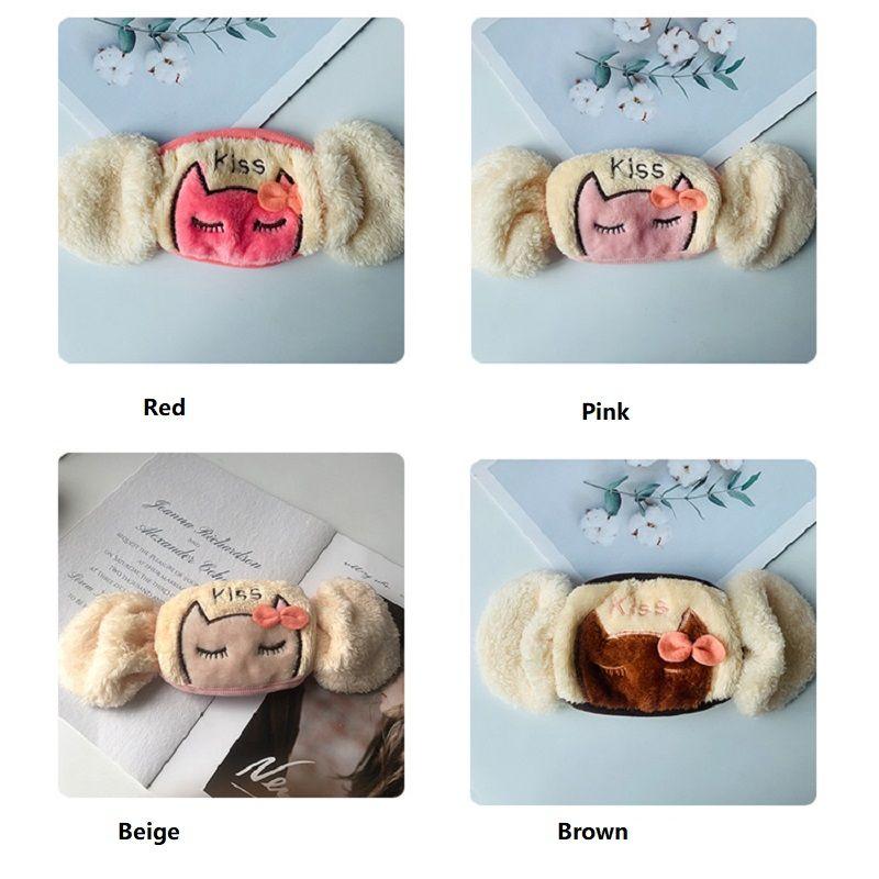 Le maschere per bambini invernali possono essere equipaggiate con filtri protezione orecchio caldo cartoon cartoon maschere carini carino per bambini Anti-batterici auricolari caldi ZZC4543