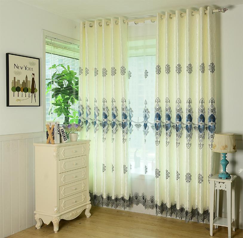 Neue Produkte, Leisurely Residenz, Ruhige Zeit, vorzügliche Stickerei Jacquard Vorhänge für Esszimmer Schlafzimmer Wohnzimmer.