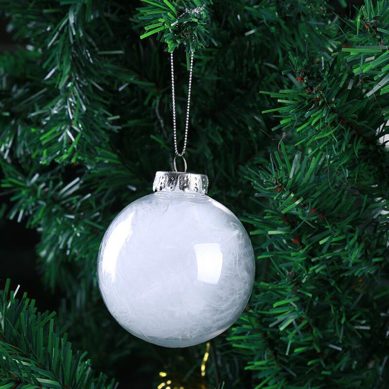 """Ornements de mariage Ornements de décoration de Noël Boules de verre 8cm Boules de Noël Clear Glass Ballons de mariage 3 """"80mm Ornements de Noël AAD2698"""
