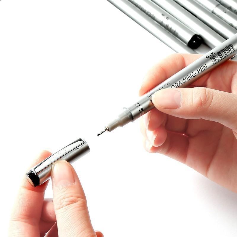 Chenyu 10 / PCS Aiguille imperméable stylo dessin animé dessin animé croquis pour dessin Pigme Micron Liner Brosses Hook Line Pen Art Fournitures 201102