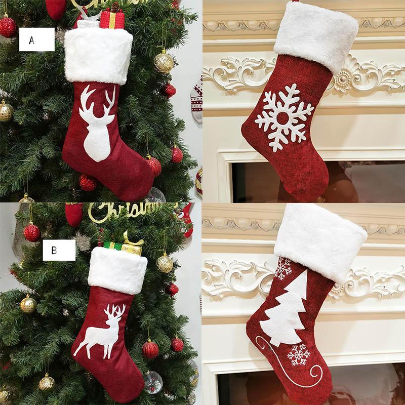 Designer casar com meias de natal decoração de Natal árvores ornamento decorações de festa de santa santa meias doces sacos saco de presentes Xmas
