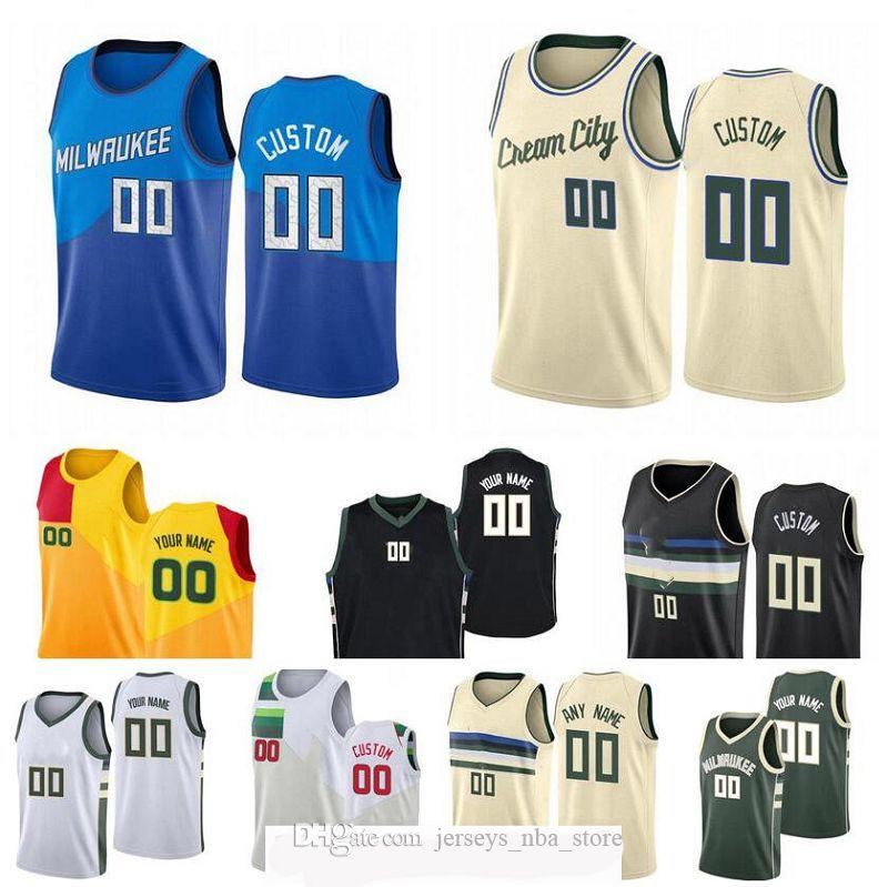 Hommes personnalisés Jeunesse Milwaukeecity Team 34 Antetokounbo 22 Middleton 34 Allen n'importe quel nom et numéro Swingman City Jersey