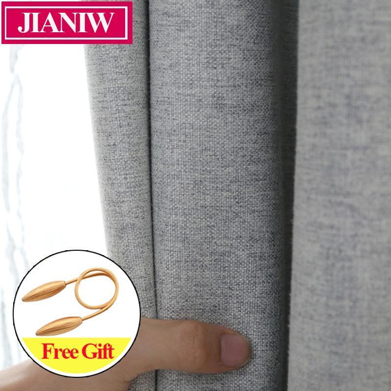 Jianiw 80-85% Schattierungsrate Home Decor Blackout Vorhänge für Wohnzimmervorhänge Faux Leinen Vorhang für Schlafzimmerfenster Customized