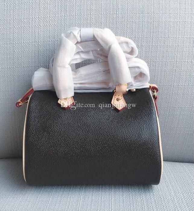 Hot Selling Real Leather Luxury design Women mini handbag Best quality Speedy nano shoulder bag Fashion Crossbody bag Nano Speedy Bag 16CM