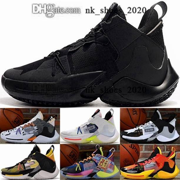 Kutu ile gençlik Sıfır Erkekler Sneakers Jumpman 2 Kadın Eğitimciler Boyutu ABD 12 Russell Neden Zer0.2 Ayakkabı Basketbolu EUR 46 Tenis Westbrook Beyaz